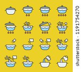 cooking instruction icon filled ... | Shutterstock .eps vector #1191754270