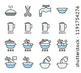 cooking instruction icon filled ... | Shutterstock .eps vector #1191754276