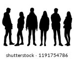vector silhouettes man and... | Shutterstock .eps vector #1191754786