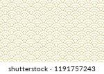 gold seamless pattern japanese... | Shutterstock .eps vector #1191757243