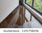 water leaking and flooded on... | Shutterstock . vector #1191758296