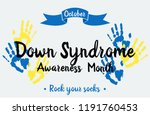 down syndrome awareness month... | Shutterstock .eps vector #1191760453