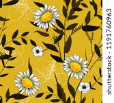 trendy seamless floral pattern. ... | Shutterstock .eps vector #1191760963