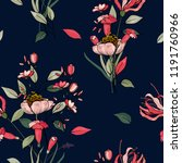 trendy floral pattern. isolated ... | Shutterstock .eps vector #1191760966
