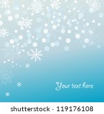 blue christmas card with... | Shutterstock .eps vector #119176108