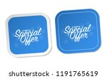 special offer stickers | Shutterstock .eps vector #1191765619
