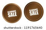 clearance sale stickers | Shutterstock .eps vector #1191765640