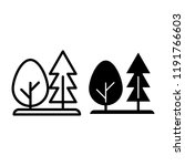 forest line and glyph icon.... | Shutterstock .eps vector #1191766603