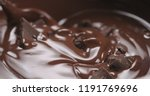 chocolate chunks in melted dark ... | Shutterstock . vector #1191769696