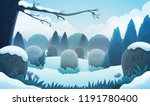 landscape of a graveyard with... | Shutterstock .eps vector #1191780400