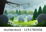 Landscape Of A Graveyard With...
