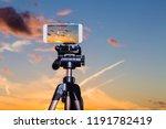 using smartphone like...   Shutterstock . vector #1191782419