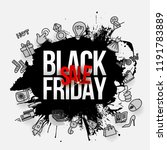 black friday sale label.... | Shutterstock .eps vector #1191783889