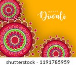 happy diwali wallpaper design... | Shutterstock .eps vector #1191785959