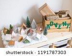 christmas advent calendar in...   Shutterstock . vector #1191787303