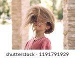 portrait of a cute little girl. ... | Shutterstock . vector #1191791929