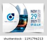 vector brochure  flyer ... | Shutterstock .eps vector #1191796213