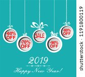 2019 happy new year. christmas... | Shutterstock .eps vector #1191800119