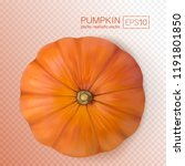 fresh pumpkins on transparent... | Shutterstock .eps vector #1191801850