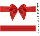 red ribbon. gift decoration  ... | Shutterstock .eps vector #1191802276