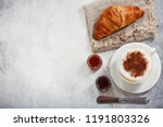 cup of cappuccino coffee with...   Shutterstock . vector #1191803326