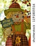 Scarecrow Pumpkin Fall Season...