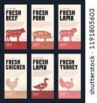 vector butchery modern style...   Shutterstock .eps vector #1191805603
