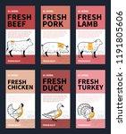 vector butchery modern style... | Shutterstock .eps vector #1191805606