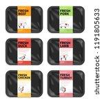 vector meat packaging. butchery ... | Shutterstock .eps vector #1191805633
