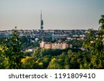 view of evening fall landscape... | Shutterstock . vector #1191809410