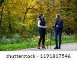 nordic walking   active people... | Shutterstock . vector #1191817546