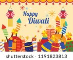 illustration of diwali with... | Shutterstock .eps vector #1191823813