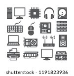computer icons set | Shutterstock .eps vector #1191823936