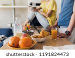 close up of breakfast on table... | Shutterstock . vector #1191824473