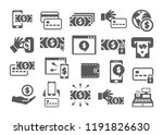 payment icons set | Shutterstock .eps vector #1191826630
