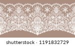 horizontally seamless pink lace ... | Shutterstock .eps vector #1191832729