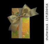 gift box wrap and ribbon with... | Shutterstock . vector #1191836416
