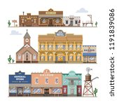 saloon vector wild west... | Shutterstock .eps vector #1191839086