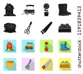 vector design of farm and... | Shutterstock .eps vector #1191839413