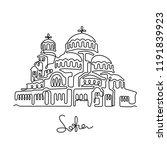 st. alexander nevsky cathedral  ... | Shutterstock .eps vector #1191839923