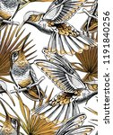 seamless gold and silver... | Shutterstock .eps vector #1191840256