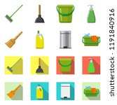 vector illustration of cleaning ... | Shutterstock .eps vector #1191840916