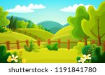 colorful countryside landscape... | Shutterstock .eps vector #1191841780