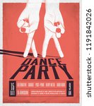 Dance Party Poster With Two...