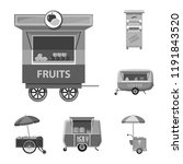 vector illustration of market... | Shutterstock .eps vector #1191843520