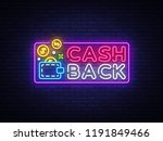 cash back sign design template. ... | Shutterstock . vector #1191849466