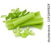 celery stalk bunch isolated om... | Shutterstock . vector #1191849829