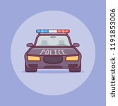 police car flat line icon.... | Shutterstock .eps vector #1191853006