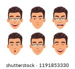 face expressions of business... | Shutterstock .eps vector #1191853330
