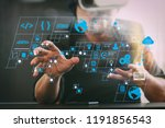 coding software developer work... | Shutterstock . vector #1191856543